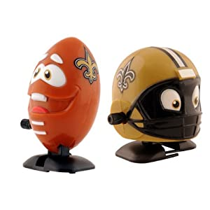 NFL New Orleans Saints Wind Up Football and Helmet, Pack of 2 by Bleacher Creatures