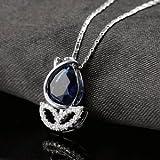 Banggood Fashion Jewelry Rose Flower Pendant Necklaces Of Austrian Rhinestone Crystal