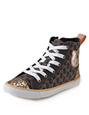 Hello Kitty Lace Up High Top Trainers