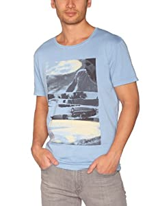 Quiksilver - T-Shirt - Homme - Bleu (Dirty Blue) - S