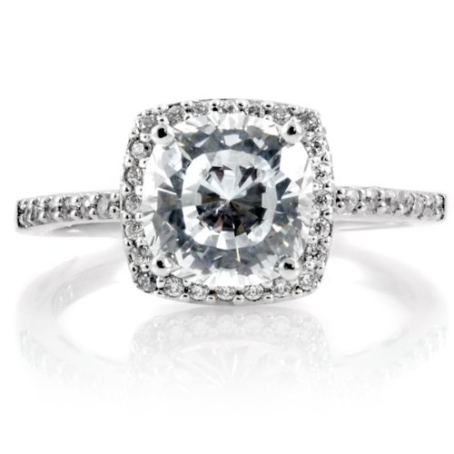 Sheryl's 2.5 CT Cushion Cut CZ Engagement Ring
