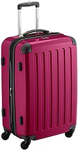 HAUPTSTADTKOFFER® · Hard-side suitcase MAGENTA high gloss · Dimension ca. 63 x 42 x 28 cm + 4 cm volume expansion · max. 87 liter filling volume
