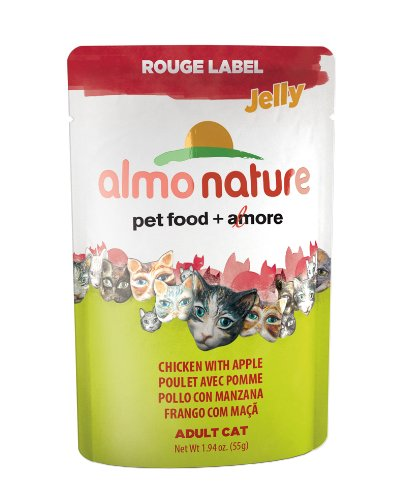 Almo Nature Rouge Label Chicken Fillet And Apple Cat Food 1 Case - 24 Pouches (55G/Ea)