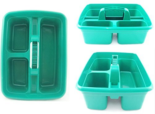 green-plastic-cleaning-caddy-cleaners-carry-all-basket-tote-tray-by-the-dustpan-and-brush-store
