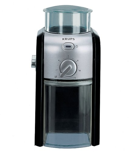 The Krups Expert GVX231 is a very good electric coffee grinder and is quite cheap at £40.