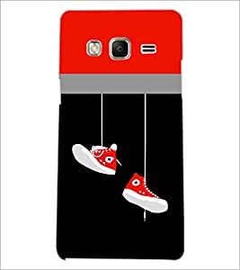 PrintDhaba Hanging Shoes D-3511 Back Case Cover for SAMSUNG Z3 (Multi-Coloured)