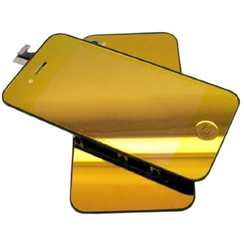 Goliton® Conversion Kits Chrome Mirror Kit Lcd Assembly Repair Parts For Iphone 4S - Plated Mirror Gold