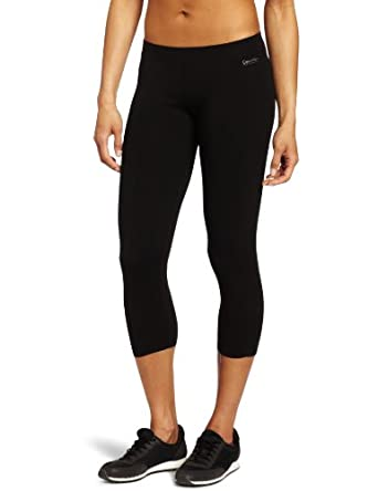 Calvin Klein Performance Women's Shirred Crop Legging, Black, X-Small
