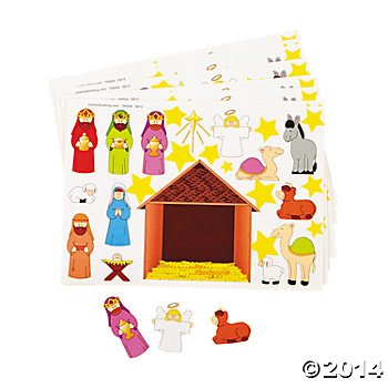 2-Dozen-24-Make-a-NATIVITY-SCENE-Sticker-Sheets-Religious-Education-VBS-CHRISTMAS-Party-Classroom-Activity-FAVORS-Holiday-GIVEAWAY