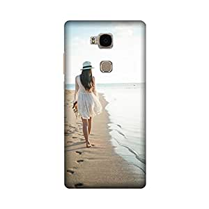 StyleO Honor 5X Designer Printed Case & Covers (Honor 5X Back Cover) - Alone Girl Sand Sea