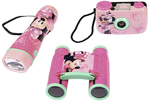 Disney Minnie Mouse Adventure Kit For Kids - Camera, Binoculars And Flashlight