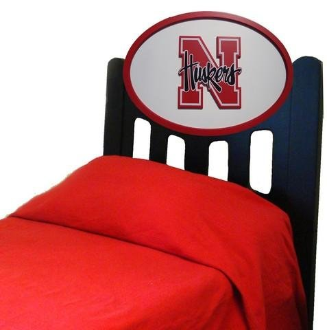 Cheap Nebraska Cornhuskers Kids Wooden Twin Headboard With Logo (C0526B-Nebraska)