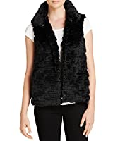 Milly Faux Fur Kira Vest in Black