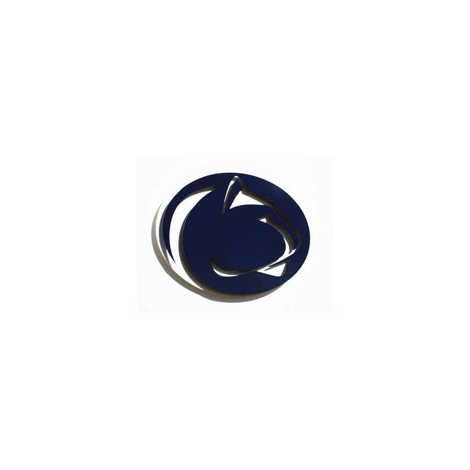Sports Fan Products 5110 PSU1 NCAA Penn State Nittany Lions Large 3 D Metal Indoor / Outdoor Lion Head Logo Wall Art