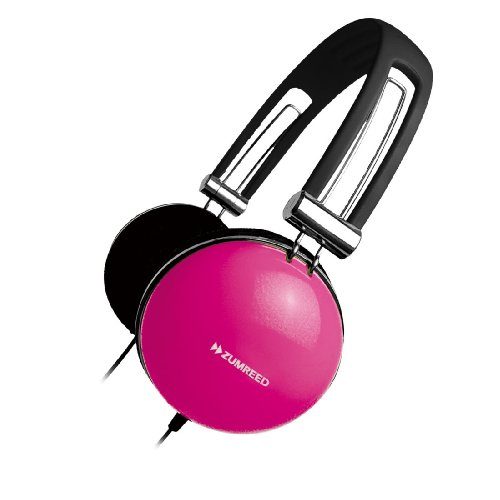 Zumreed Zhp-005 Retro Portable Stereo Headphones, Pink