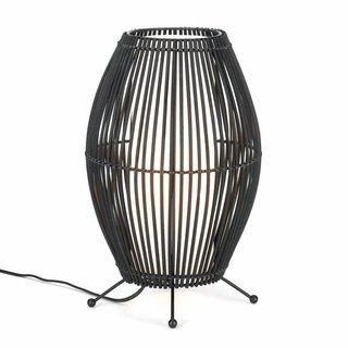 Koehler Home Decorative Black Metal Slat Convex Lamp