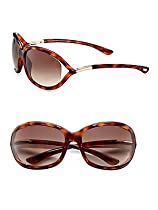 Tom Ford Womens FT0008 JENNIFER Brown/Brown Sunglasses 61mm