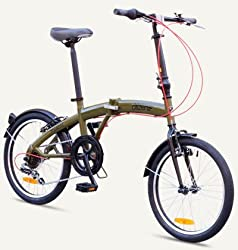 "TOKYO Citizen Bike 16"" 6-speed Folding Bike with Ultra-Portable Frame (Olive Green) by Citizen Bike"