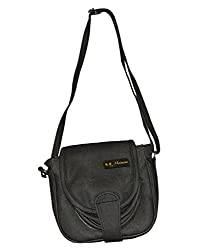 Maimona Sling bags Dark Grey Color Best PU Leather