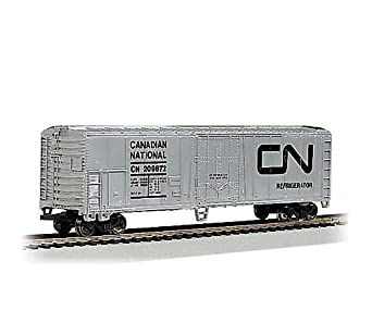 Bachmann Trains Canadian National (Silver) 50' Steel Refrigerated Car-Ho Scale