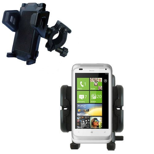 Bike Handlebar Holder Mount System for the HTC Radar - Gomadic Brand