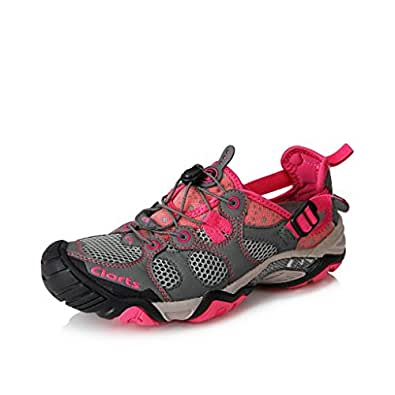 Clorts Women's Seaside Amphibious Athletic Pull On Water Shoe Quick Drying Hiking Water Sneaker
