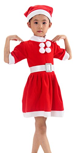 Ace Kids Toddler Girls Father Christmas Costume Santa Claus Cos-play