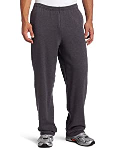Champion Men's Champion Eco Open Bottom Pant, Granite Heather, Large