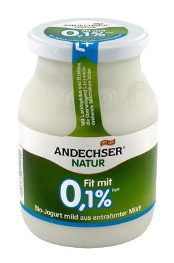 Andechser Natur Bio Joghurt natur Fit 0,1% 500 gr