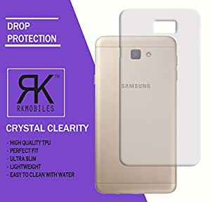 RKMOBILES Samsung Galaxy J5 Prime Ultra Thin 0.3mm Clear Transparent Flexible Soft TPU Slim Back Case Cover (For Samsung Galaxy J5 Prime )