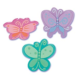 Molded Butterfly CupCake Topper Decoration Rings 12CT