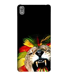 animated glowing tiger face 3D Hard Polycarbonate Designer Back Case Cover for Sony Xperia E5