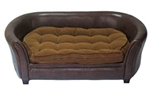 Amazon Com Cool Runners Faux Leather Dog Couch Sofa Bed