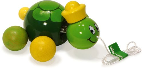 Vilac Push and Pull Baby Toy, Caroline The Turtle