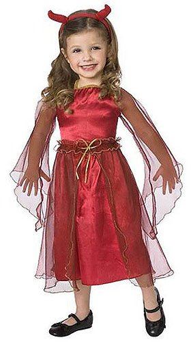 [Fancy Red Devil Costume Toddler Girl - Toddler 1-2T] (Devil Costume For Girls)