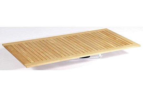 SonnenPartner Tischplatte Pure Teakholz-Natur 90 x 90 made by Müsing günstig online kaufen