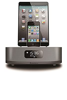 Chelsea Home Imports Apple Certified Dual-Docking 30-Pin & Lightning iPod/iPhone/iPad Alarm Clock Speaker Dock with Bluetooth, FM Radio and 2 Alarm Clock Functions. Compatible with iphone 6 & able to charge Android based phones or tablets