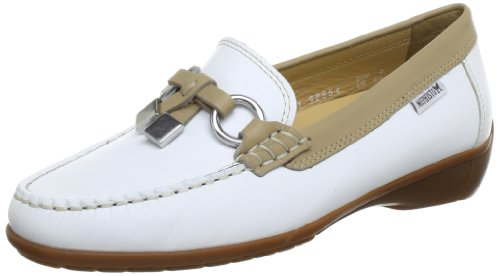 Mephisto - Doris Butterfly 14530/14518 White, Mocassino da donna, bianco (white butterfly 14530/14518), 38