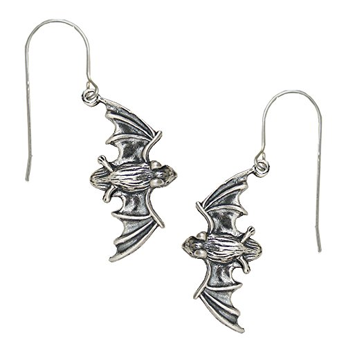 Sterling Silver Bat Earrings Handmake in USA