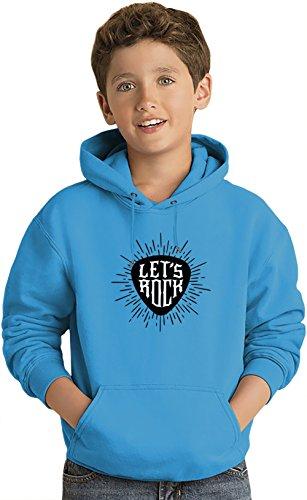 Let's rock Felpa leggera con Cappuccio per Bambini Lightweight Hoodie For Kids | 80% Cotton-20%Polyester| 9-11 yrs