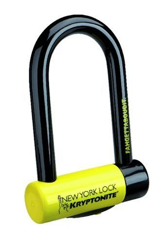 Kryptonite New York Fahgettaboutit Mini Bicycle U-Lock (3.25 x 6-Inch)