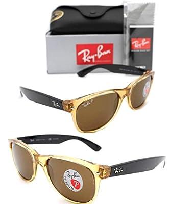 Ray-Ban RB 2132 945/57 55mm New Wayfarer Honey W/ Crystal Brown Polarized Lens