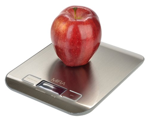 MIRA Compact Slim Design Digital Kitchen Scale