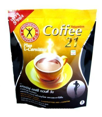 Thai Naturegift Instant Coffee Mix 21 Plus L-Carnitine Slimming Weight Loss Diet
