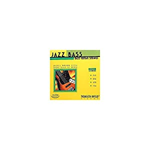 Thomastik-Infeld JF324 Bass Guitar Strings: Jazz Flat Wounds 4-String Short Scale Set; Pure Nickel Flats G, D, A, E Set by Thomastik-Infeld