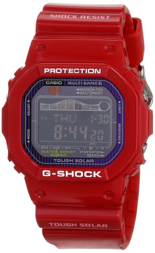 Casio Men's GWX5600C-4 G-Shock G-LIDE Red Resin Digital Watch Reviews