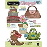 6 Pack SHAPED PAPER FLAIR CARD KIT Papercraft, Scrapbooking (Source Book)