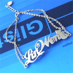 Personalized 925 Silver Name Bracelet Anklet Double Chain