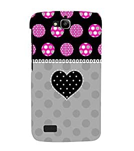 Black Heart 3D Hard Polycarbonate Designer Back Case Cover for Huawei Honor Holly :: Honor Holly
