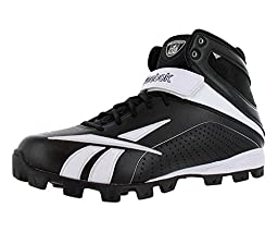 Reebok Pro Workhorse ATF Men\'s Football Shoes Size US 14, Regular Width, Color Black/White/Silver